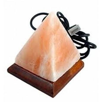Lampa de Sare, cu USB, forma Piramida, 0.3-0.5 kg, Multicolor