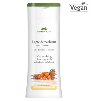 Lapte demachiant vitaminizant cu ulei de catina si masline, 200 ml, Cosmetic Plant