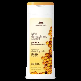 Lapte demachiant hidratant cu miere și laptișor de matca, 200 ml, Cosmetic Plant