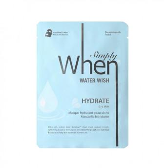 Masca coreana hidratanta pentru ten uscat, Water Wish, 23 ml, Simply When