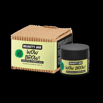 Masca regeneranta pentru sprancene, ulei de ricin si macadamia, Wow Brow, Beauty Jar, 15ml