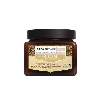 Masca reparatoare cu ulei de ricin pentru toate tipurile de par, Arganicare, 500 ml