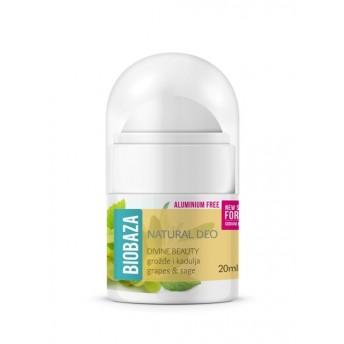 MINI Deodorant cu bicarbonat piele sensibila DIVINE BEAUTY, 20ml - BIOBAZA