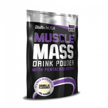 Supliment - Muscle Mass 1000gr Vanilla BiotechUSA