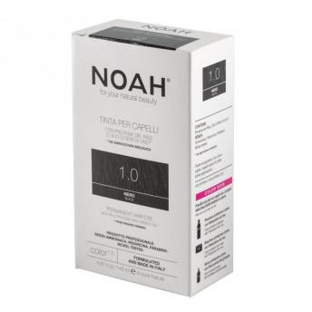 Vopsea de par naturala fara amoniac, Negru, 1.0, Noah, 140 ml