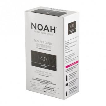 Vopsea de par naturala fara amoniac, Saten, 4.0, Noah, 140 ml