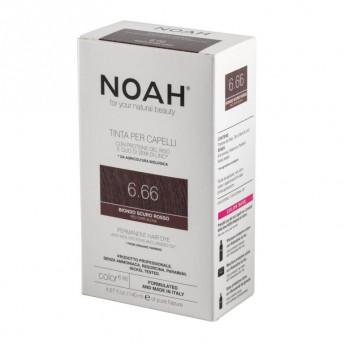 Vopsea de par naturala fara amoniac, Blond roscat inchis, 6.66, Noah, 140 ml