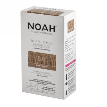 Vopsea de par naturala fara amoniac, Blond deschis,8.0, Noah, 140 ml