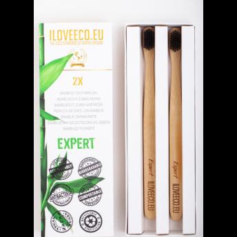 """Periute de dinti ecologice, din bambus, model """"Expert"""" - pachet dublu"""