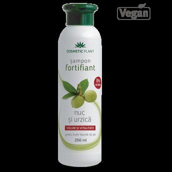 Sampon fortifiant cu nuc şi urzica, 250 ml, Cosmetic Plant