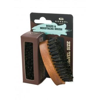 Perie pentru barba si mustata, peri din porc mistret, lemn fag