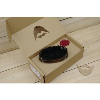 Perie ovala pentru barba, peri sintetici, lemn FAG