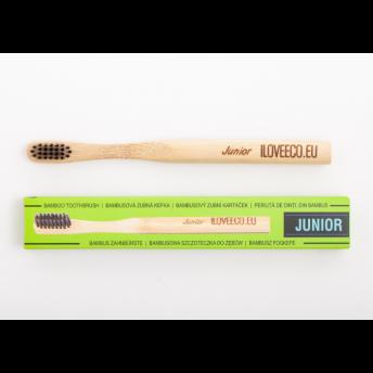"""Periuta de dinti ecologica, din bambus, pentru copii, model """"Junior"""" (cu peri foarte moi)"""