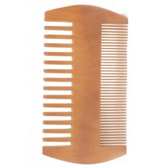 Pieptene dublu pentru barba, din lemn de par