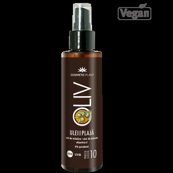 Ulei pentru plaja OLIV SPF 10 cu ulei de morcov, ulei de masline si vitamina E, 150 ml