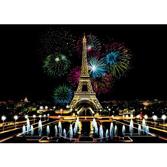 Plansa de razuit A3 - terapie prin Arta - Focuri de Artificii Paris
