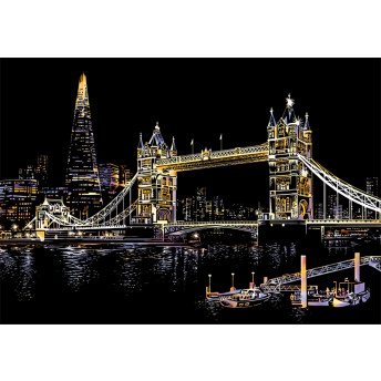 Plansa de razuit A3 - terapie prin Arta - Tower Bridge