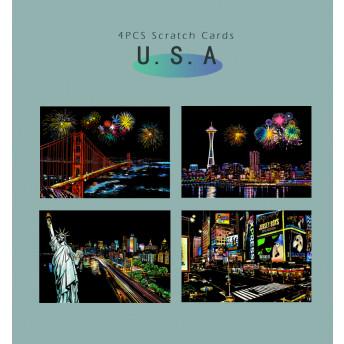 Plansa de razuit A4 (4 bucati) - terapie prin Arta - USA