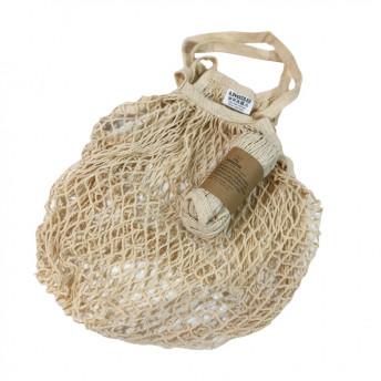 Plasa Ecologica de cumparaturi cu maner lung, natur, bumbac 100% (1 bucata)