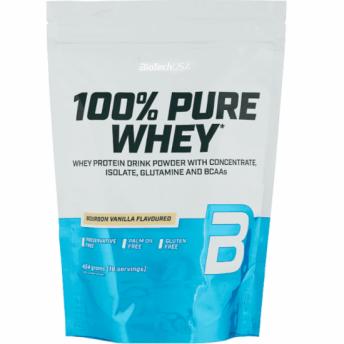 Proteina pudra 100% Pure Whey 454gr Vanilie Bourbon BiotechUSA