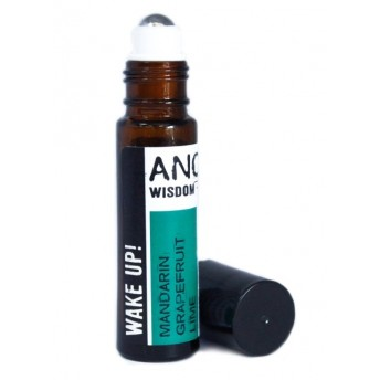 Roll-on uleiuri esentiale Wake Up! (grapefruit, mandarine, lime), 10ml - Ancient Wisdom