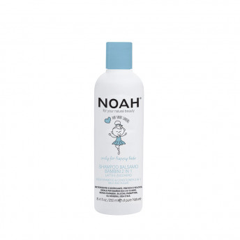 Sampon & balsam 2 in 1 cu lapte & zahar pentru copii, Noah, 250 ml