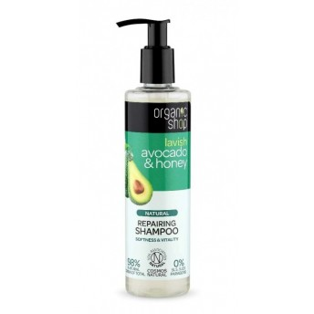 Sampon bio reparator Avocado si Miere, 280 ml - Organic Shop