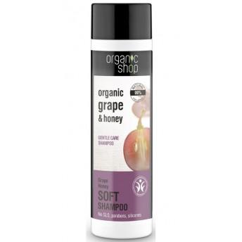 Sampon bland cu miere si struguri Grape Honey, 280 ml - Organic Shop