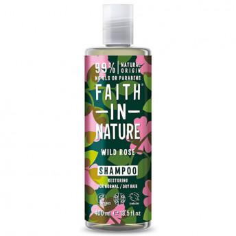 Sampon natural reparator cu Trandafir salbatic, pentru toate tipurile de par, Faith in Nature, 400ml