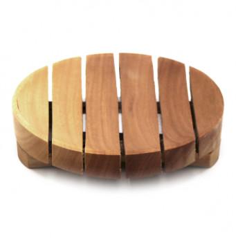 Sapuniera rotunda, lemn de Mahon