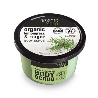 Scrub de corp delicios cu zahar si lemongrass Provence Lemongrass, 250 ml - Organic Shop