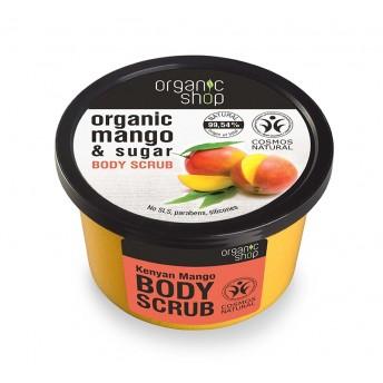 Scrub de corp delicios cu zahar si mango Kenyan Mango, 250 ml - Organic Shop