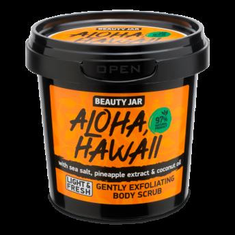 Scrub delicat pentru corp, cu sare de mare, Aloha Hawaii, Beauty Jar, 200 g