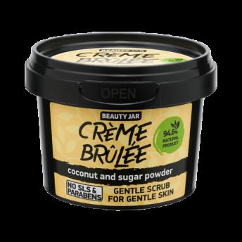 Scrub facial pentru ten sensibil cu cocos si pudra de zahar, CREME BRÛLÉE, Beauty Jar, 120 ml