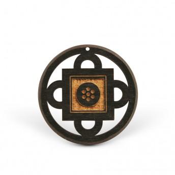 Amuleta din Lemn – Shambala, Negru