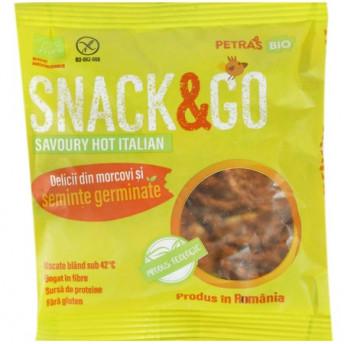 Snack eco picant cu seminte germinate, Petras Bio, 40 g