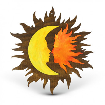 Decoratiune Soarele si Luna, Red Owl Craft, 30 cm