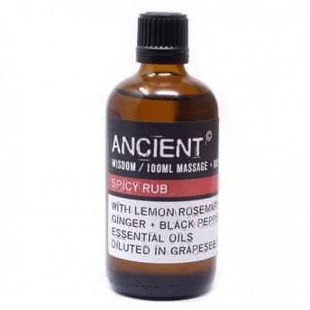 Ulei pentru masaj Spicy Rub, 100 ml, Ancient Wisdom