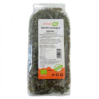 Spirale eco cu spanac, Petras Bio, 400 g
