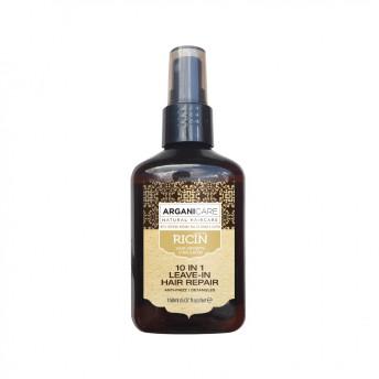 Spray reparator 10 in 1 fara clatire cu ulei de ricin, Arganicare, 150 ml