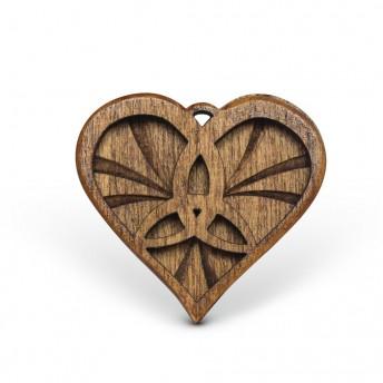 Amuleta din Lemn - The Triskelion Heart, Maro