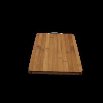 Tocator dreptunghiular din Bambus, Maner Inox, 35,5 x 23,3 cm