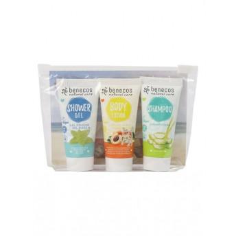 Travel Set Lemon Balm (sampon, gel de dus, lotiune de corp) - Benecos
