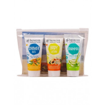 Travel Set Orange (sampon, gel de dus, lotiune de corp) - Benecos
