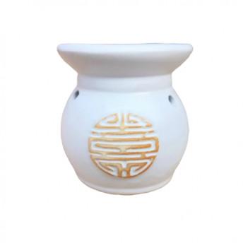 Vas Aromaterapie Labirint, rotund alb