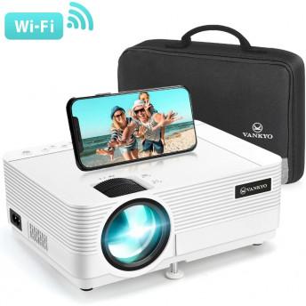 Videoproiector Vankyo Leisure 470, Wifi, 4000 Lumeni, LED, HDMI, AV, VGA, USB, SD, Conectare telefon, Geanta de transport, Telecomanda