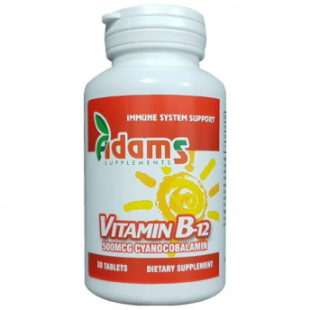 Vitamina B12 500 mcg 30 tablete