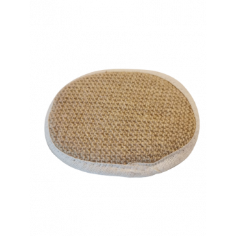 Burete oval din Canepa, 16 x 12 cm cu Banda de prindere, Premium