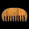 Pieptene AFRO, lemn de maslin, dinti rari
