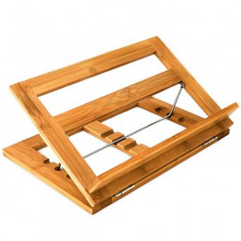 Suport pentru Carte, din Lemn de Bambus, Ajustabil, Premium